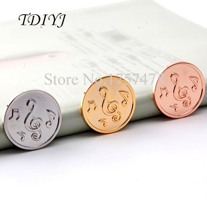 TDIYJ New Arrival (10 pieces/lot) 33mm Mixed Music Note My Coin Disc for Stainless Steel Coin Holder Frame Pendant