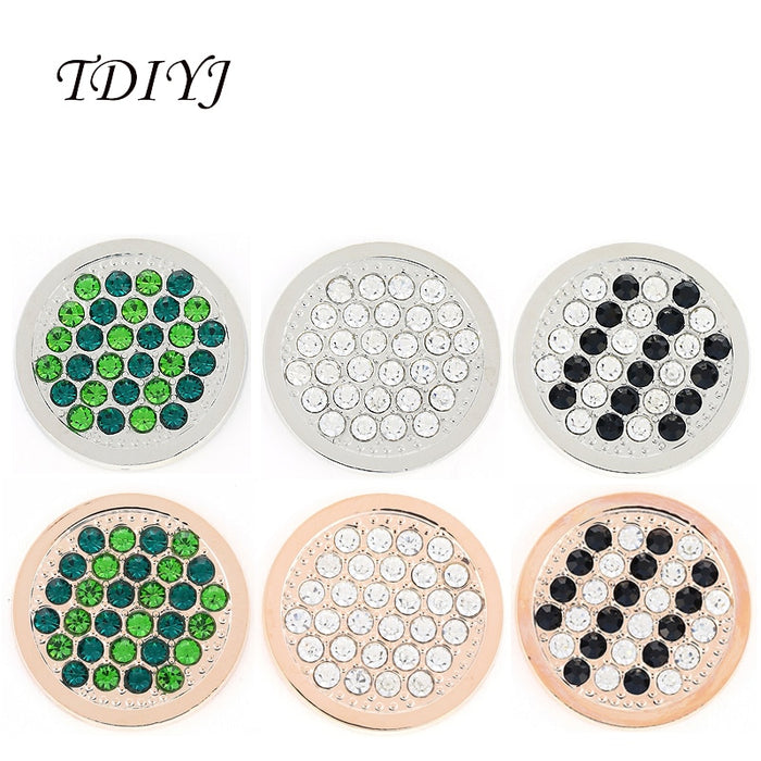 TDIYJ New Design My Coin 33mm Interchangeable Big Crystal Coin Disc Pendants for Coin Holder Necklace as Women Jewelry 1Pcs