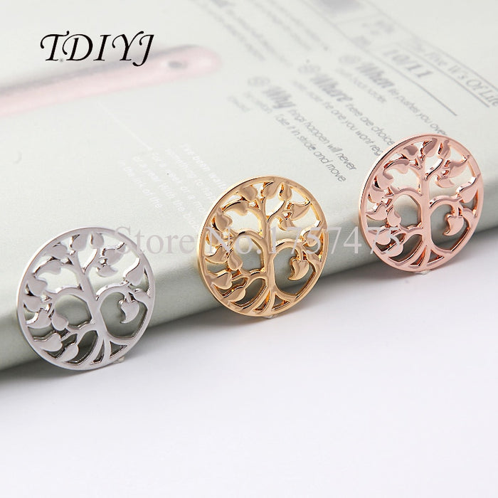 TDIYJ Newest Jewelry 1.2mm Thickness Cute Life Tree My Coin for Coin Holder Pendant Necklace as Women's Gifts 10pcs/lot