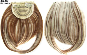 TOPREETY Heat Resistant Synthetic Hair 30gr Blunt Bangs Hair Extension Neat Fringe Hairpieces B3