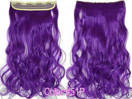 "TOPREETY Heat Resistant Synthetic Hair Wavy 20"" 50cm 100gr 5 clips on clip in Hair Extensions 5108"