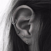 Timlee E139  Free shipping Simple Geometry Round Circle Alloy Studs Earrings  Popular Accessories wholesale