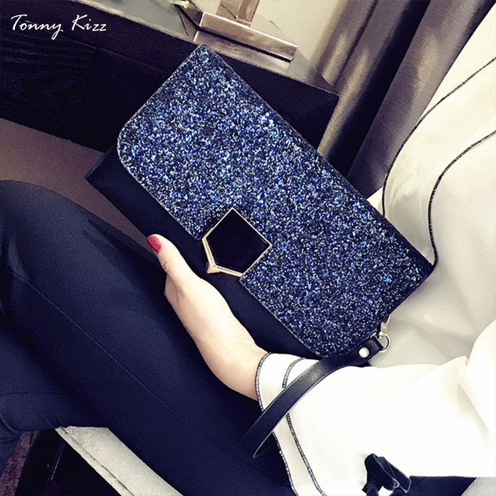 Tonny Kizz women clutch fashion evening clutch bags with chain lady crossbody shoulder bags with handle female handbags top new