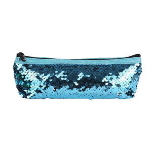 Top Fashion Sequins Multifunctional Bag Women Zipper Cosmetic Pen Container Pouch
