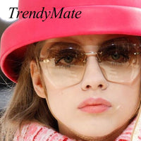 TrendyMate 2017 New Fashion Sunglasses Women Brand Designer High Quality Style Elegant Ladies Sun Glasses Female Sunglasses 602M