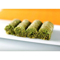 Gulluoglu Pistachio Wrap, Turkish Wrap Baklava with Pistachio, Freshly Produced and Long Lasting, 7pcs - 0.55lb (250gr.)