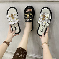 2020 Fashion Glitter Slippers Women Summer Sandals Bling Female Candy Color Flip Flops Beach Diamond Flat Shoes Outdoor Sandals