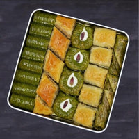 Traditional fresh delicious premium mixed Turkish baklava with pistachio and walnut. Dessert Turkish Dessert Baklava Pistachio