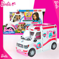2019Barbie Girl Doll Toy Clinic Vehicle & Playset Ambulance Norme Car Toy With Doctor Accessories FRM19 Barbie Toys