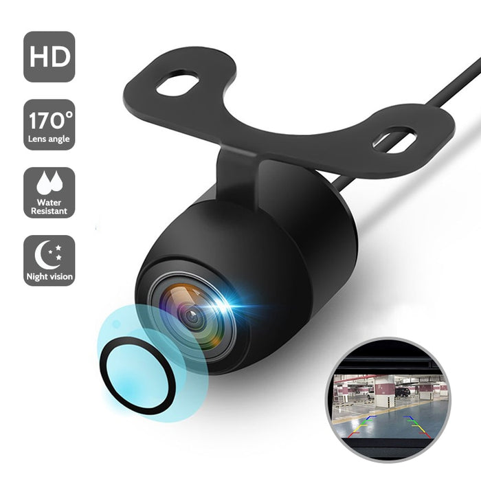 HD Night Vision Car Rear View Camera 170° Wide Angle Reverse Parking Camera Waterproof CCD LED Auto