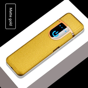 USB charging electronic lighter windproof slim man personality women Electric heating wire colorful cigarette lighter