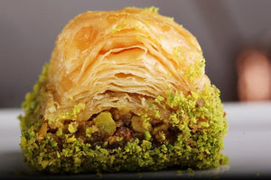 Long Lasting Dry Baklava with Pistachio by Güllüoglu (0.55 lb - 250 gr)