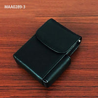 Unisex PU Leather Cigarette Box Case with Pouch Lighter Holder Velvet Liner Pouch Wallet Design for Men & Women Holding 20pcs