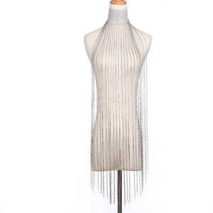 Unuhle Fashion Metal Mesh Body Chain Dress Full Rhinestone Body Chain Bra Harness Charm Female Party Nightclub Sexy Body Jewelry