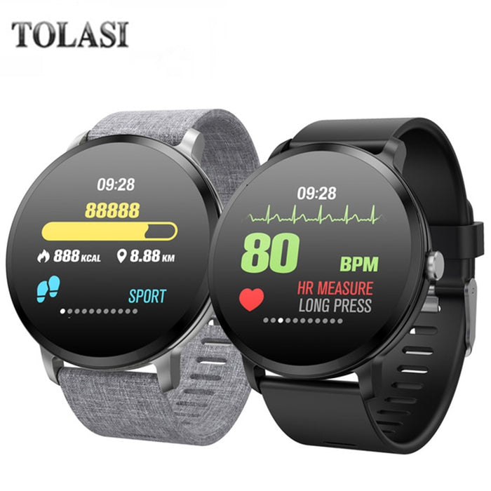 V11 Smartwatch Men Women Weather Music Control HR Blood Pressure Oxygen Training Brightness Smart Watch Bracelet