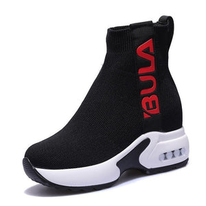 VIGOR FRESHNESS Woman Ankle Boots Women Shoes Elastic Spring Sock Boots Motorcycle Ladies Autumn Boots Winter Shoes WY377