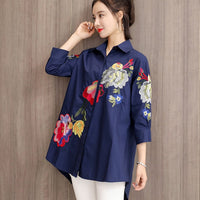 women shirts tops in spring slim elegant three quarter