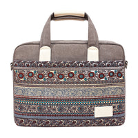 Vintage ethnic style Laptop Bag for 13 14 15 inch Canvas PC Notebook Case Laptop Handbag Crossbody bags for woman man Computer