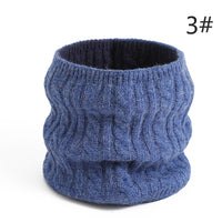 Women Winter Ring Scarf Knit Warm Neck Scarves Cotton Thick Double Side Unisex