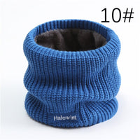Women Winter Scarf Warm Ring Neck Snood Knitted Solid Cashmere Thick