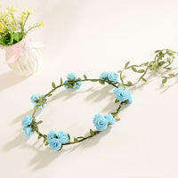 Wedding Flower Crown Headband Women Wedding Floral Head Wreath Bridesmaid Bridal Garland Headpiece Female  Hair Accessories Set
