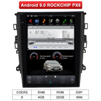 Android 9 Tesla Screen Car Multimedia Player GPS Radio Stereo