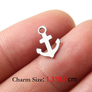 Wholesale High Quality Four Leaf Clover Stainless Steel Charms Pendants for Bracelets Necklaces Jewelry Making DIY Accessories