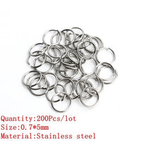 Wholesale Jewelry Findings Necklace Connector Jump Rings Stainless Steel Links Hooks Clasps For Bracelet  Cord Charms Dangle