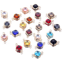 Wholesale Price 10pcs/lot Colorful Glass Crystal Birthstone Charms Diy Accessories For Bracelets Necklace