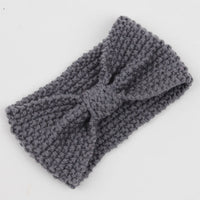 Winter Warmer Ear Knitted Headband Turban For Lady Women Crochet Bow Wide Stretch Hairband Headwrap Hair Accessories