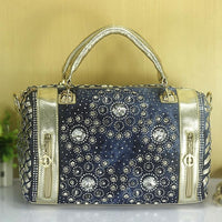 Woman Denim Handbags Bags Vintage Rhinestone Shoulder Bags Women's small Bags jean Bolsas Femininas for Women