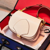 Woman Luxury Saddle Bags Designer Fashions Genuine Cow Leather Shoulder Crossbody Bags Famous Brand High Quality Ladies Handbags