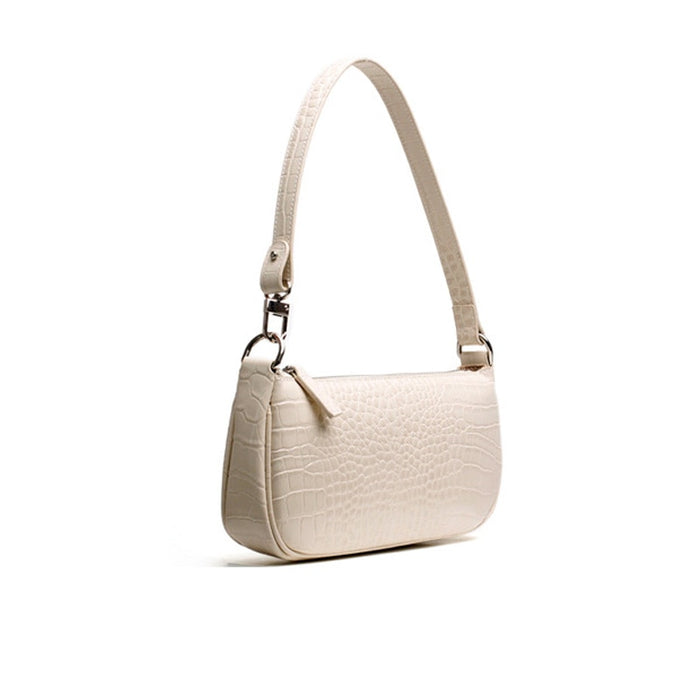 Women Bag Real Leather Small Shoulder Carry Purse Bags Crocodile Pattern High Quality Female Casual Retro Handbags Bolsas