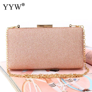 Women Evening Clutch Bag Diamond Sequin Clutch Female Crystal Day Clutches Wedding Purse Party Banquet Box Chain Bags For Women