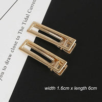 Women Geometric Pearl Hairpins Accessories  Korean Style Hair Clips Alloy