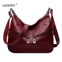 Women Hobos Messenger Bag Luxury Authentic  PU Leather Soft Handbag Female Designer Crossbody Shoulder Tote Bag Bolsa Feminina