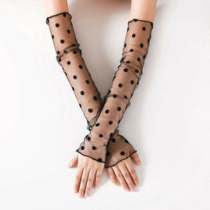 Women Lace Arm Sleeves Outdoor Sunscreen Driving Sleeve Cycling Running
