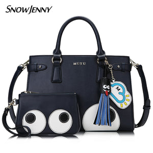Women Leather Embroidery Handbags Girl Shoulder Bags Messenger Bag Female