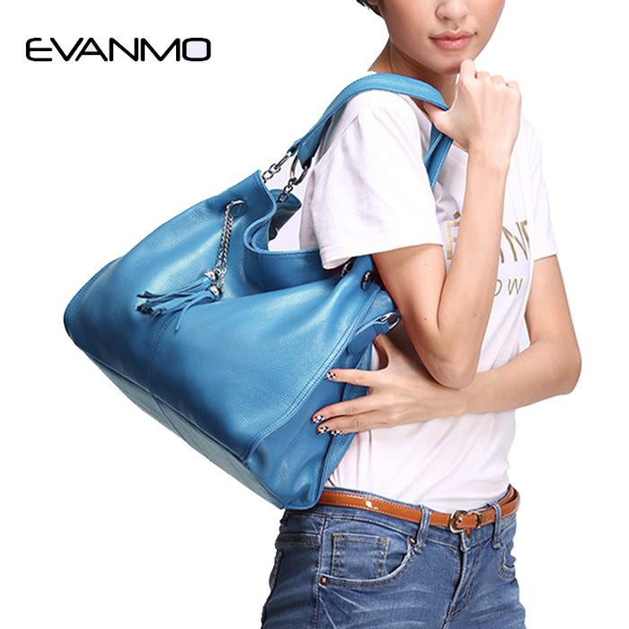 Women Leather Shoulder Bag Causal Female Large Totes High Quality Ladies Shoulder Hobo Bag Soft Large Crossbody Bags
