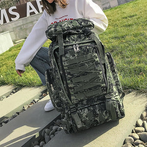 Women Outdoor Military Backpack Large Back Bags Men Hiking Rucksack Camping