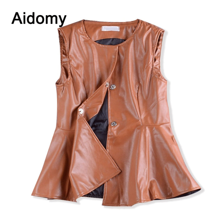 Ruffles Peplum Top Mujer Front Buttons o Neck Sleeveless Women Blouses