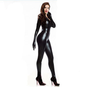 lingerie bodysuit With gloves Open Crotch Clubwear fetish