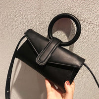 Women Shoulder Bag Leather Waist Bag Round handbag Fashion Belt Bags Girl Solid Crossbody Pack Women Small Tote 030401