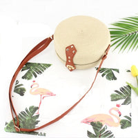 Women Summer Rattan Bags Round Square Straw Bag Handmade Woven Beach crossbody bags for women Circle Bohemia Bali Handbags