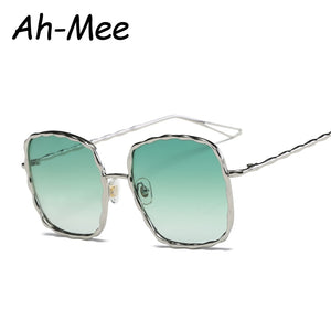 Women Sunglasses Square Sun Glasses Brand Designer Fashion Gradient Lens  De Sol feminino UV400