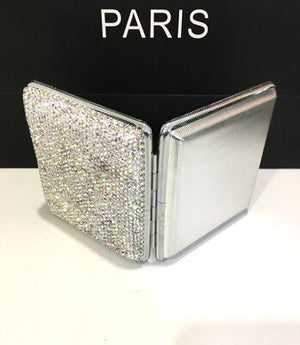 Women cigarette case(hold 20 pcs) withe crystal Portable cigarette box Cigarette box holder Cigarette clip Gift for her