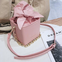 Women's Designer Handbag 2018 Fashion New High quality PU Leather Women Tote bag Bow Chain Shoulder Messenger bag Mini Box bags