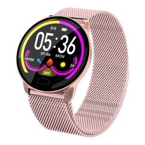 Women's Smart Watch Bluetooth Blood Pressure Monitor Smartwatch Fashion Women Smart Bracelet Touch Screen For Android IOS Watch
