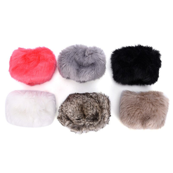 Wrist Warmer New Oversleeve Faux Windproof Fur Arm Bracelet Wristbands Arm Sleeves Women Winter