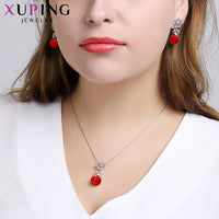 Xuping Fashion Elegant Imitation Pearl Jewelry Set for Women Best Birthday Anniversary Free Beautifully Gift Wrapped S168-60098